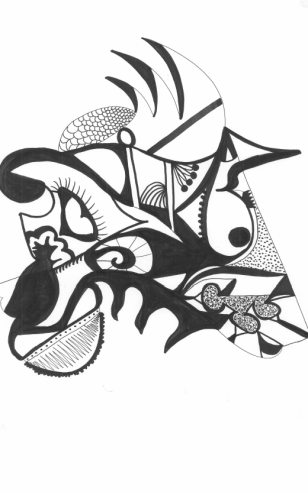 black-and-white-abstract-unicorn-drawing