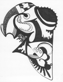 black-and-white-abstract-creature-drawing